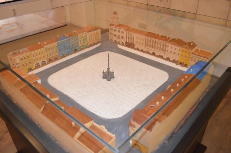 Nová maketa náměstí v Návštěvnickém centru