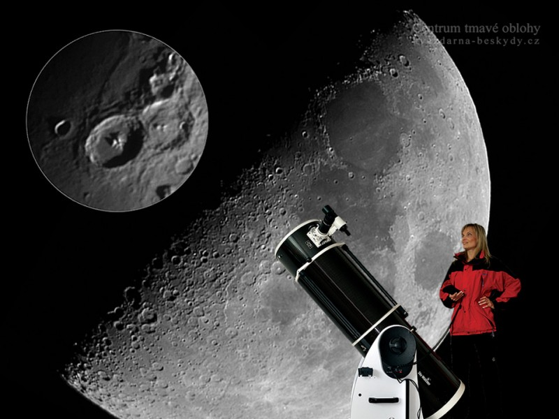 Podívejte se na Měsíc dalekohledem v Centru tmavé oblohy na Gruni
