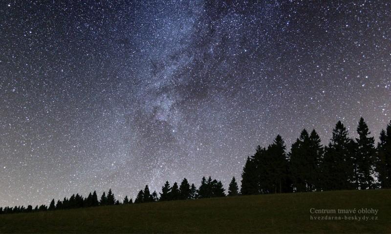 Mléčná dráha a hluboký vesmír dalekohledem
