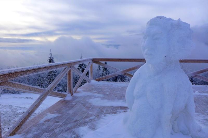 Pustevny budou opět tři týdny zdobit sochy z ledu