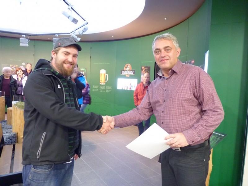 Pivovar Radegast přivítal  jubilejního návštěvníka