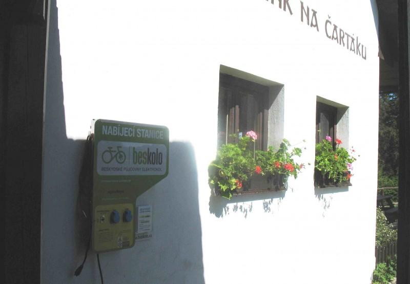Nabíjecí stanice elektrokol - Horský hotel Čarták, Solanec