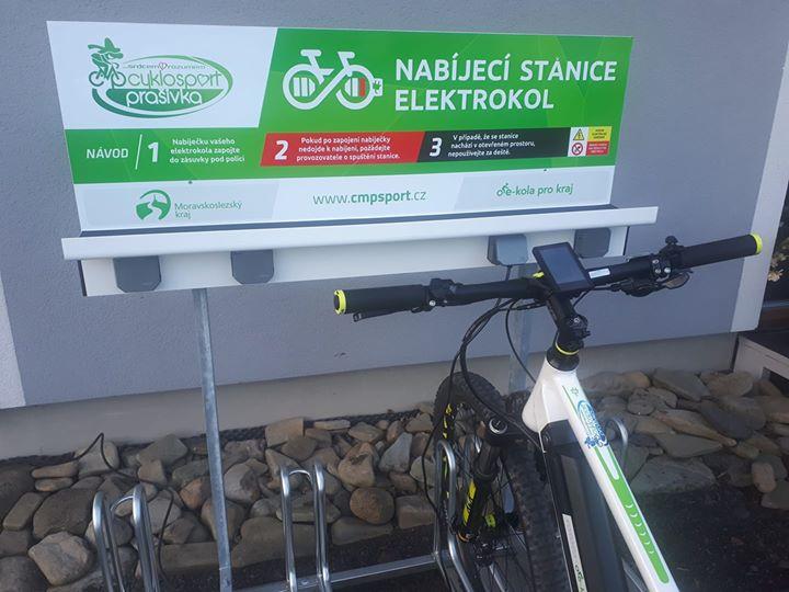 Nabíjecí stanice elektrokol - Cyklosport Prašivka, Frenštát p. Radhoštěm